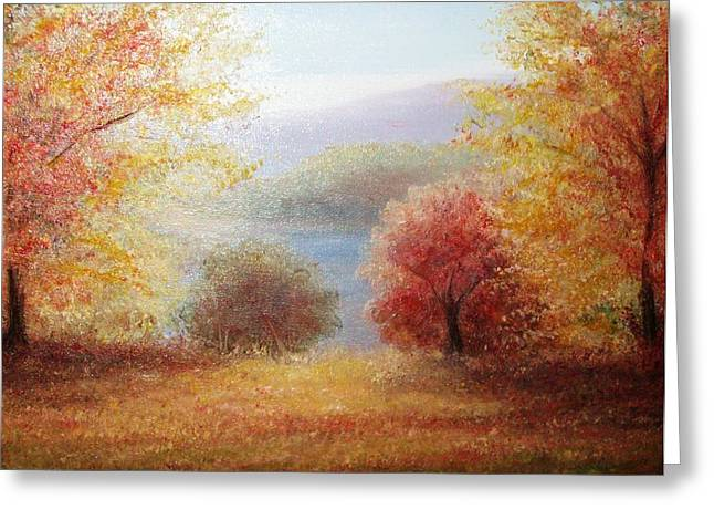 Hill Country Autumn Greeting Card by Patti Gordon