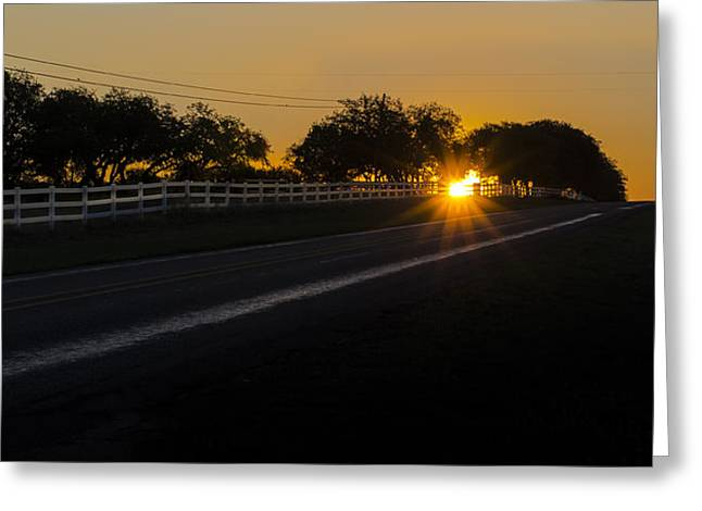 Hill Country Sunrise 2 Greeting Card by Debbie Karnes