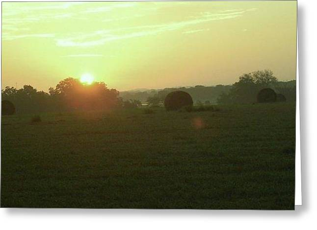 Greeting Card featuring the photograph Hill Country Sunrise by John Glass