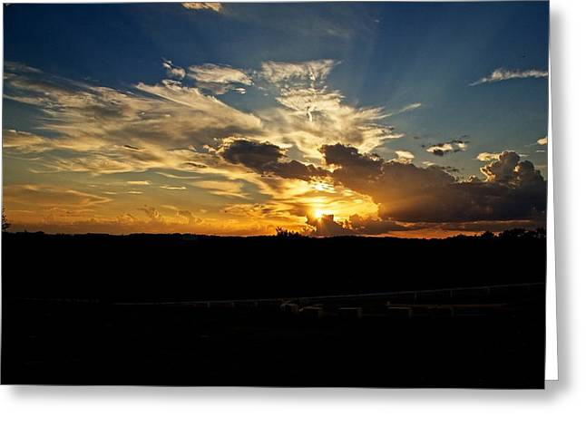 Hill Country Sunset Greeting Card