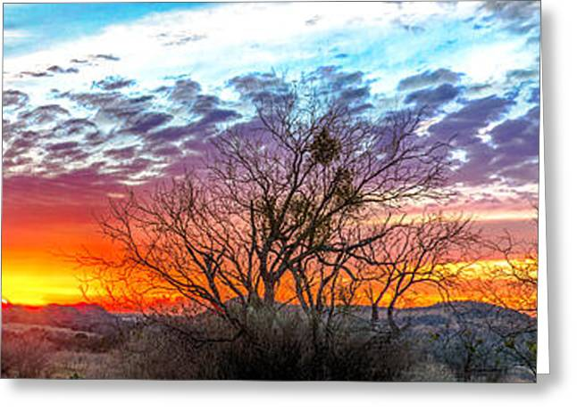 Hill Country Sunset Greeting Card by Wally Taylor
