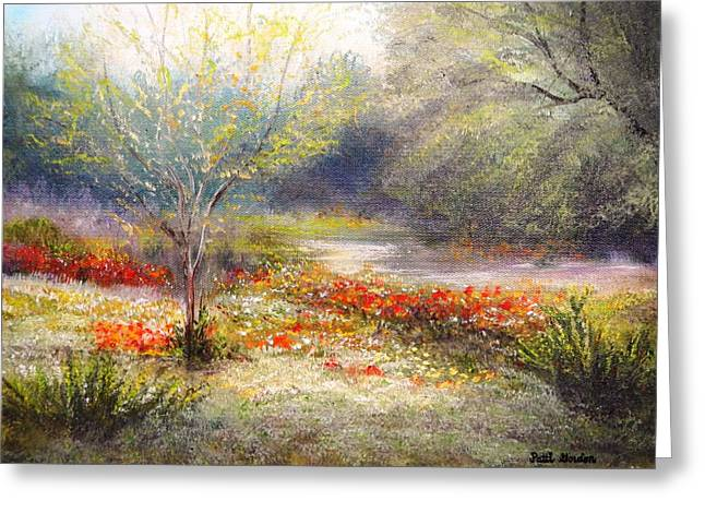 Hill Country Wildflowers Greeting Card by Patti Gordon