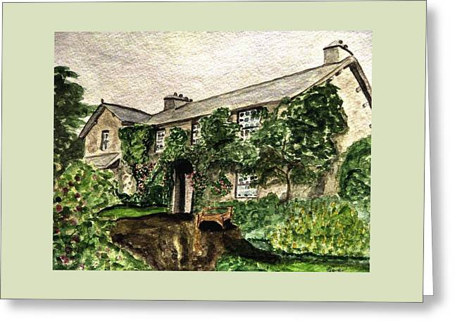 Hill Top Farm Home Of Beatrix Potter Greeting Card by Angela Davies