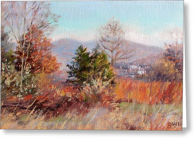 Hill Top View- In Autumn Greeting Card