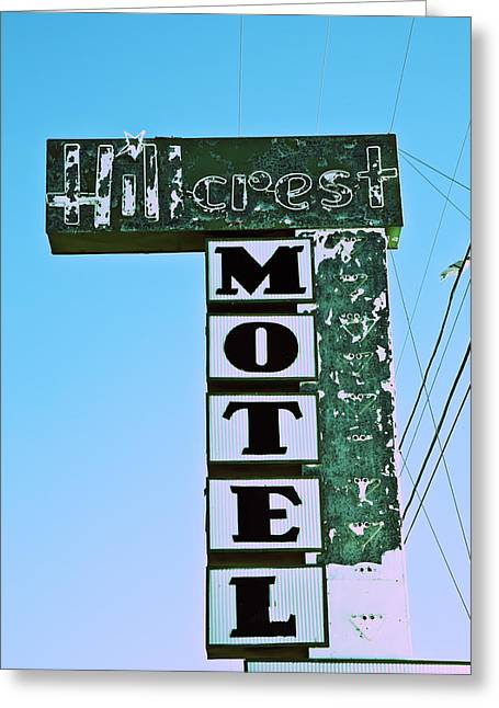 Hillcrest Motel Greeting Card