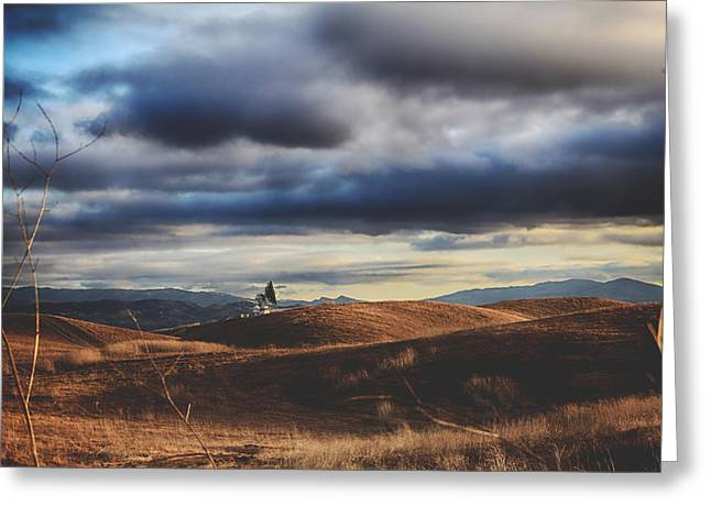 Hills Of Gold Greeting Card by Laurie Search
