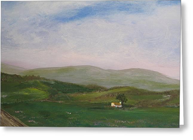 Hills Of Ireland Greeting Card