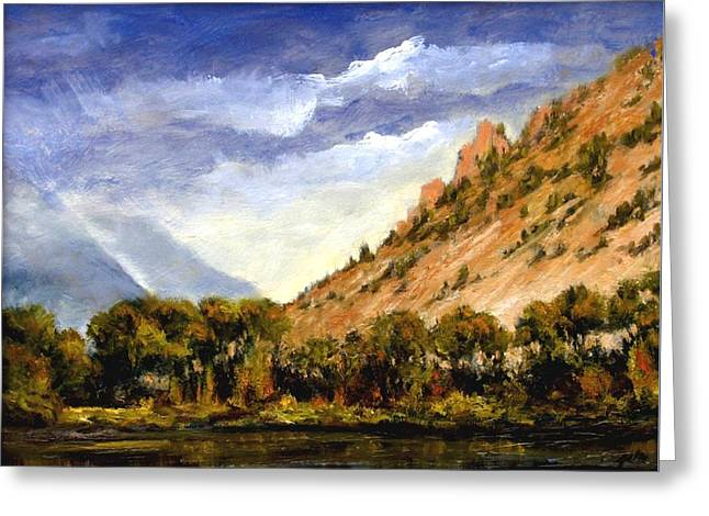 Hills Of Jackson Wyoming Greeting Card