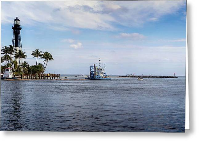 Hillsboro Inlet Lighthouse Panorama Greeting Card