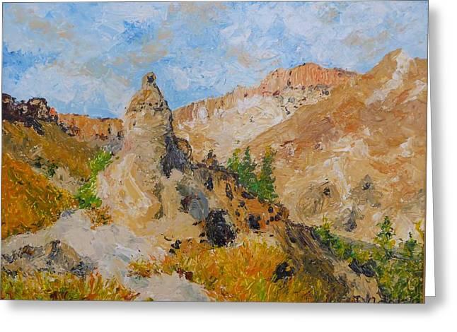Hillside Church In Cappadocia Greeting Card by Diane Arlitt
