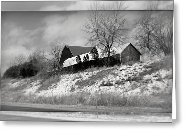 Hillside Farm Greeting Card by Kay Novy