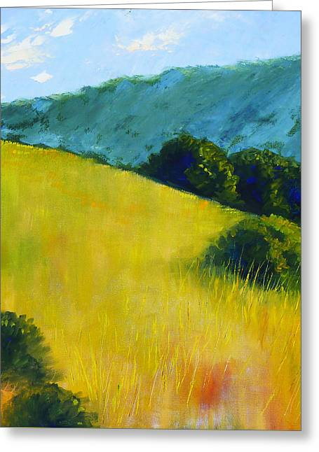 Hillside Prairie Greeting Card by Nancy Merkle