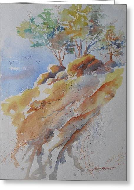 Hillside Rocks Greeting Card