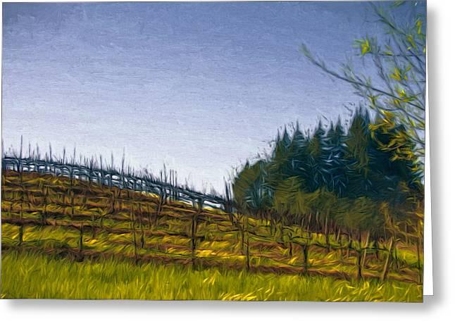 Hillside Vines Greeting Card