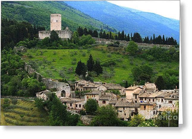 Hillsides Of Assisi Italy Greeting Card