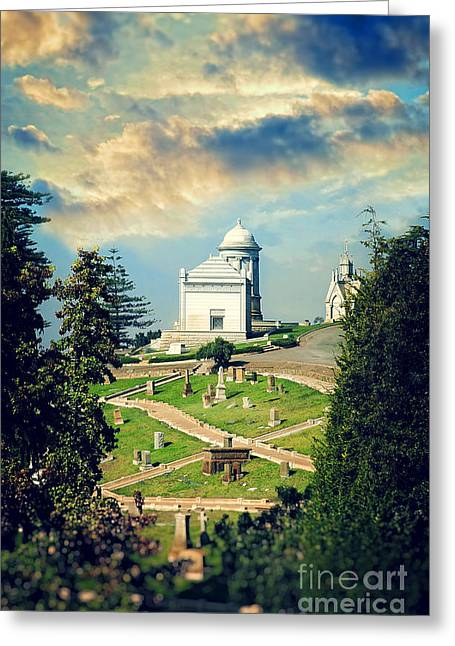 Hilltop Cemetery Greeting Card by HD Connelly