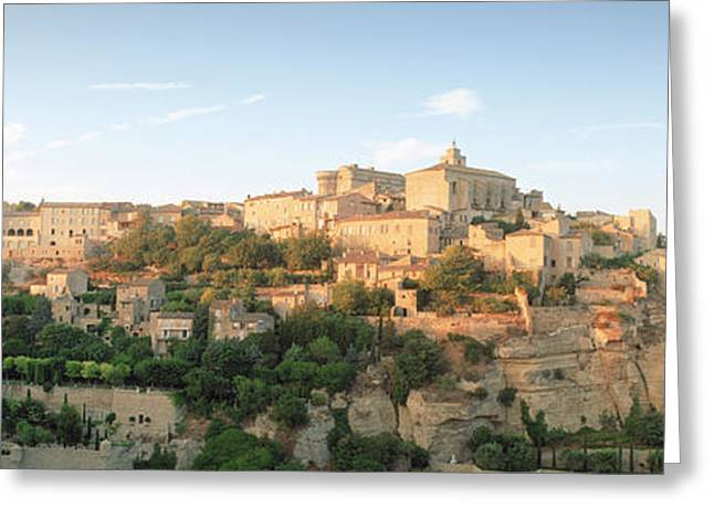 Hilltop Village, Gordes, Vaucluse Greeting Card by Panoramic Images