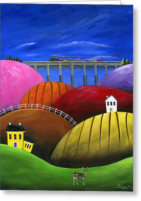 Hilly Hello Greeting Card