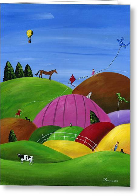 Hilly High Hopes Greeting Card