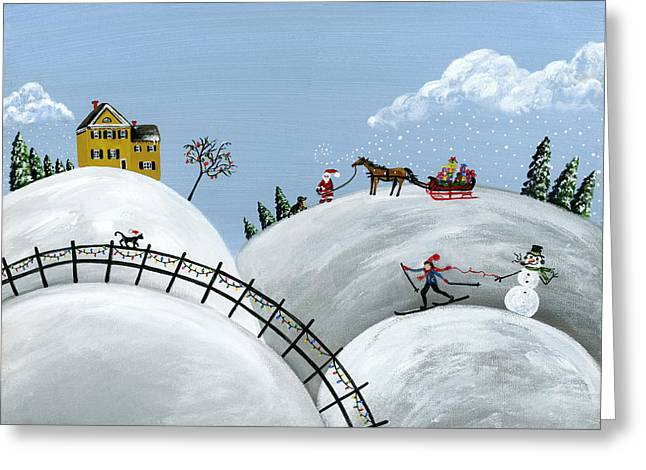 Hilly Holiday Greeting Card