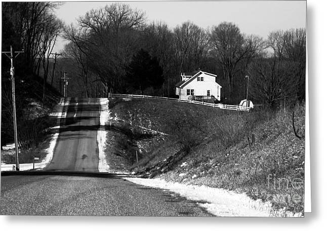Hilly House Greeting Card by Charlie Spear