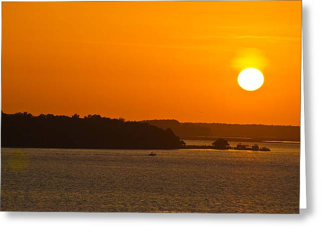 Hilton Head Island Sunset Cit 13 Greeting Card