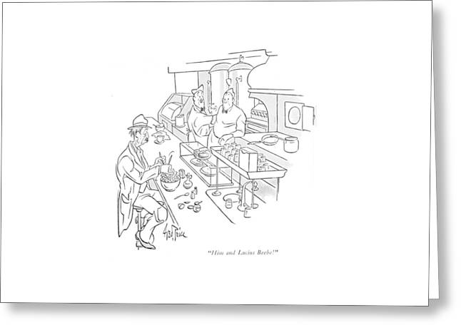 Him And Lucius Beebe! Greeting Card