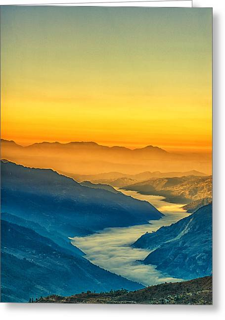 Himalaya In The Morning Light Greeting Card by Ulrich Schade