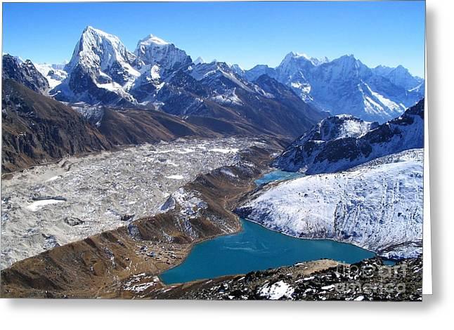 Himalaya Views Greeting Card by Tim Hester