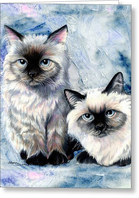 Himalayan Duo Greeting Card by Sherry Shipley
