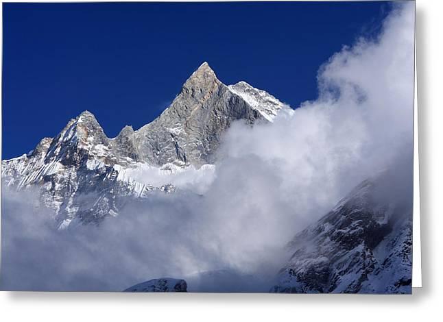 Machhapuchchhre Mountain Peak Greeting Card
