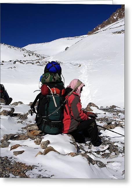 Himalayan Porter, Nepal Greeting Card