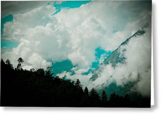 Himalayas Clouds  Greeting Card