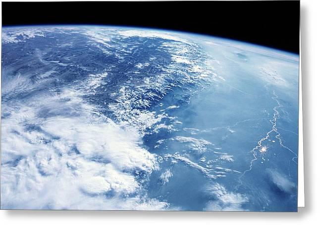 Himalayas From Space Greeting Card