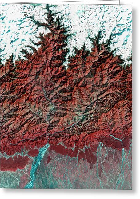 Himalayas Mountains Greeting Card