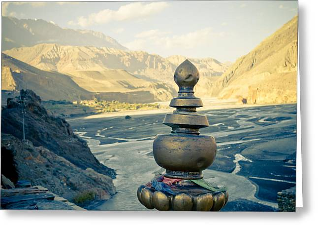 Himalayas Road To Upper Mustang Greeting Card by Raimond Klavins
