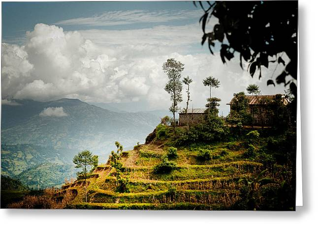 Greeting Card featuring the photograph Himalayas Terrace Raimond Klavins Fotografika.lv by Raimond Klavins