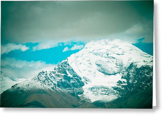 Himalyas Range Closeup View From Tibet Greeting Card