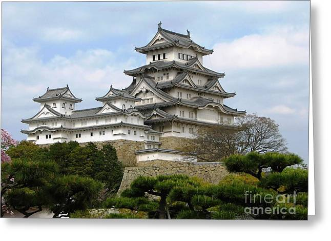 Himeji Castle - Hyogo Prefecture Greeting Card by Pg Reproductions