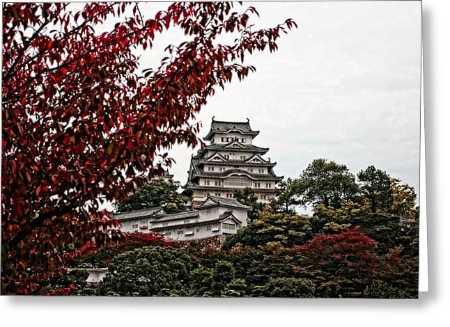 Himeji Castle In The Fall Greeting Card by Priscilla De Mesa