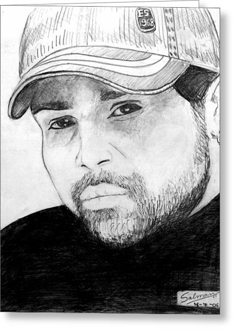 Himesh Reshammiya Greeting Card by Salman Ravish