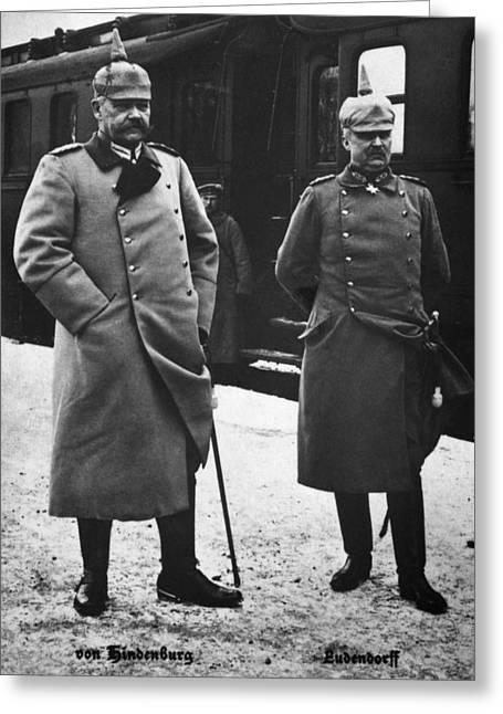 Hindenburg & Ludendorff Greeting Card by Granger