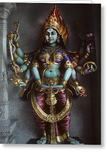 Hindu Goddess Bhairavi Greeting Card by Carl Purcell