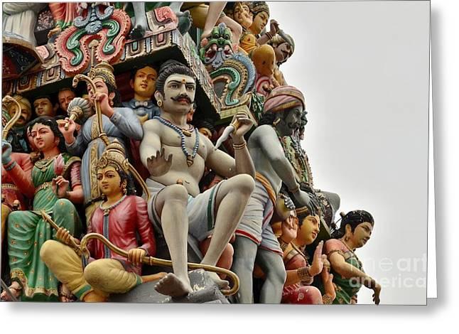 Hindu Gods And Goddesses At Temple Greeting Card