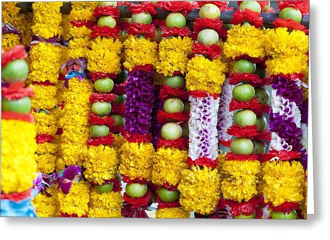 Hindu Offerings  Greeting Card by Alexey Stiop