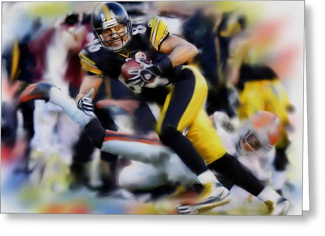 Hines Ward  Greeting Card by Dwayne  Graham