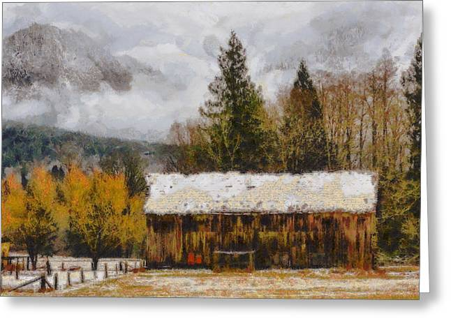 Hint Of Winter Greeting Card by Mark Kiver