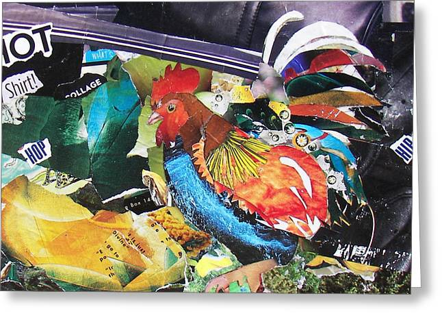 Hip Hot Rooster Greeting Card by James Haddock