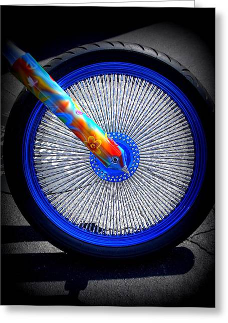 Greeting Card featuring the photograph Hippie Bike by Laurie Perry