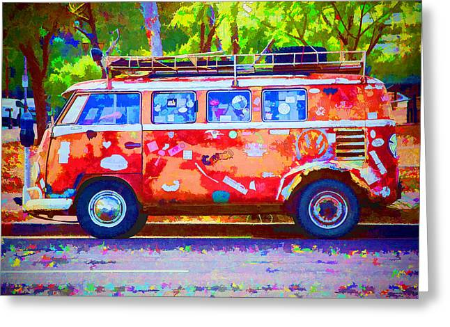 Greeting Card featuring the photograph Hippie Van by Jaki Miller